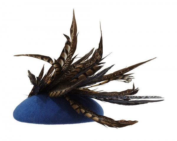 Paprika pillbox hat back Hostie Hats