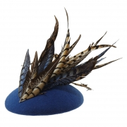 Paprika pillbox hat side
