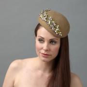 Tumeric pillbox hat