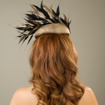Alnwick pillbox hat back view by Hostie Hats