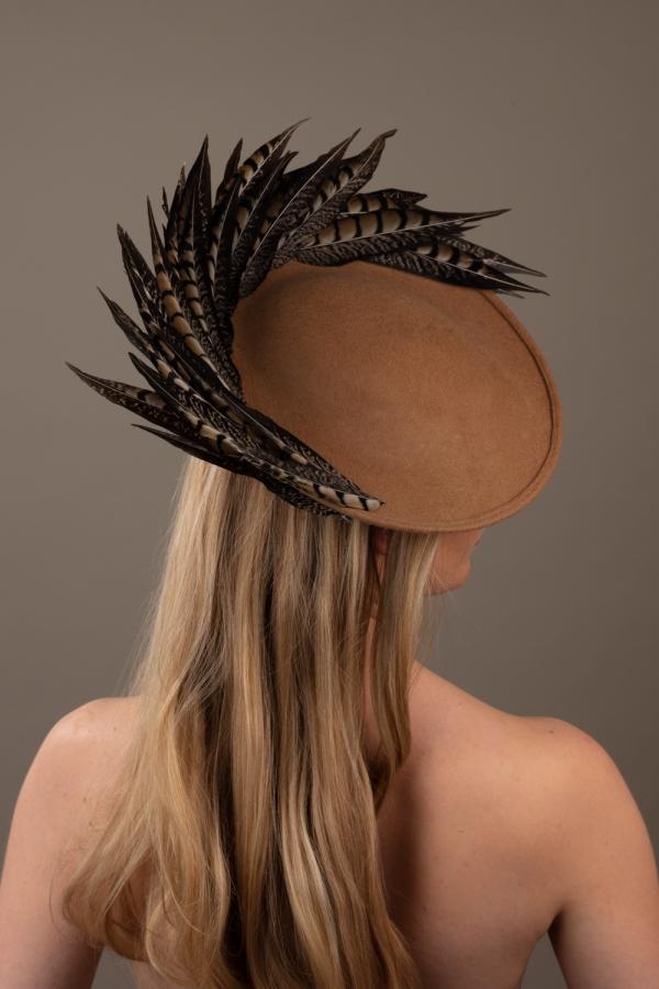Claret Dish Hat Hostie hats