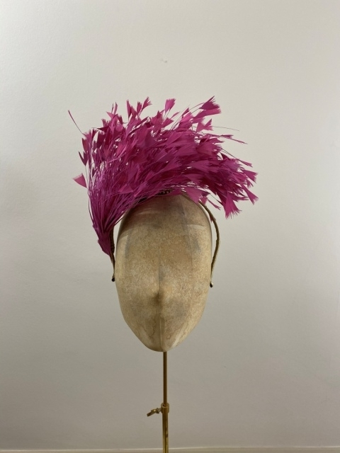 Ready to wear tatershall fascinator pink