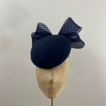 ready to wear navy vino pillbox hat